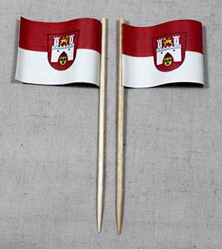 Buddel-Bini Party-Picker Flagge Hannover Papierfähnchen in Spitzenqualität 50 Stück Beutel