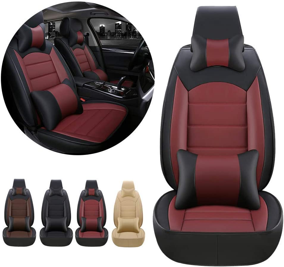 Luxury Car Front Max 47% OFF Seat Limited time trial price Covers PU w Lexus is for 2000-2004 Leather