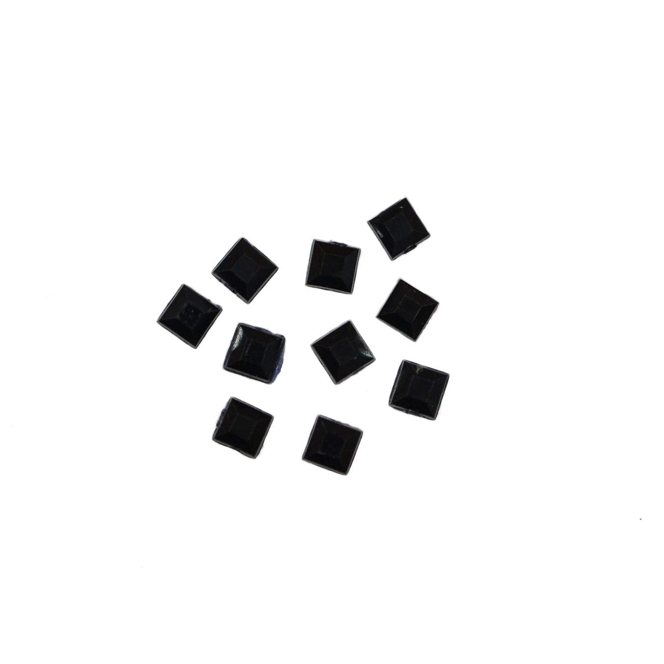 管理しますページェント厳密にスクエアストーン 30粒 / 色々使える四角いアクリルストーン (ブラック2.5mm)