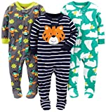 Simple Joys by Carter's Infant-and-Toddler-Pajama-Sets, Tiger/Polar Bear/Superhero, 24 Meses