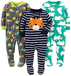 Simple Joys by Carter's infant-and-toddler-pajama-sets, Tiger/Polar Bear/Superhero, 18 Meses