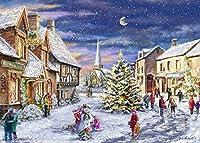 番号によるDIYペイントメリークリスマスサンタスノーホワイトクリスマスギフト番号による大人の絵画キット絵画初心者のキャンバスキット