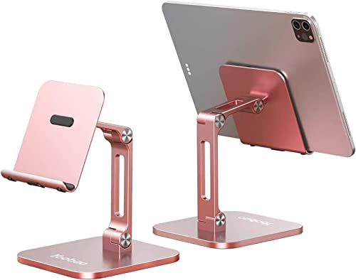 Yoobao iPad Stand Adjustable Tablet Stand Mout Foldable iPad Phone Holder Aluminum Alloy iPhone Stand for Desk/FaceTi...