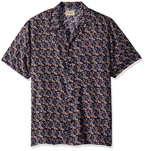 Nudie Jeans Unisex-Erwachsene Arvid Hawaii Logo Boy Hemd, Medium