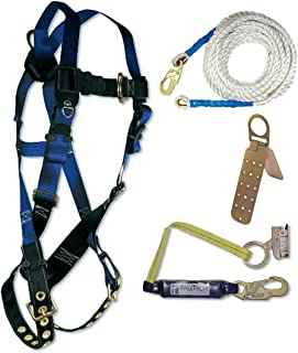 Fall Tech 8595A Contractor Harness with 4 Piece Roofer's Kit, Universal Fit