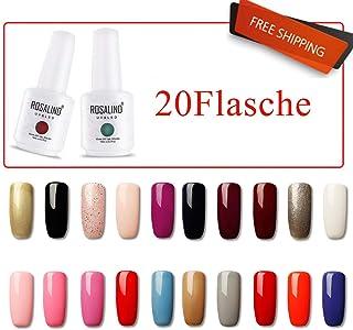 ROSALIND Esmalte de uñas de gel esmalte de manicura con lámpara LED UV 20pcs 15ml