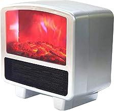 Chimenea De Mesa Chimenea Eléctrica con Control Remoto con Simulación Realista Calentadores De Llama Chimenea Eléctrica Temperatura Constante para Oficina Dormitorio Rojo