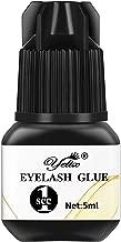 Professional Eyelash Glue - Strong Bonding and Premium Lash Glue Adhesive for Individual Eyelash Extensions 1-2 Second Fast Drying Time 6-7 Weeks Retention (5ml)