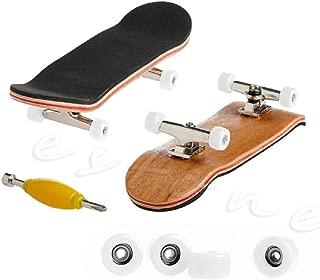 Susada 1Pc Fingerboard Wooden Deck Finger Skateboard Sport Games Kids Gift Maple Wood Set (White)