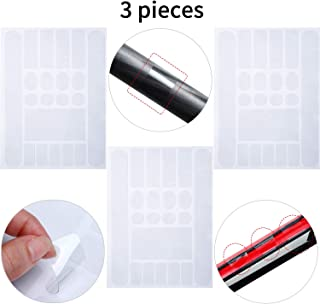 Outus 3 Pieces Bicycle Chainstay Protector Decal Chainstay Frame Guard Adhesive Protectors Film Cover for Mountain Bike Chain Protective Road Bike Folding Frame Front Fork Protective