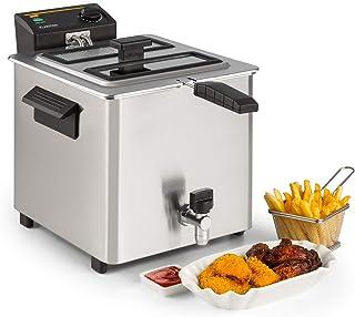 Klarstein Family Fry - Friteuse, 3000W, 8 Litres, Thermostat réglable en continu, Oil Drain Technologie, Zone de refroidis...