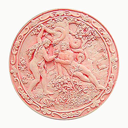 New Garden of Eden - Adam and Eve- Bas-Relief Sculpture - Silicone Soap/Sugar/Fondant/Chocolate/Marz...