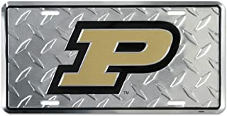 Purdue Diamond License Plate Tin Sign 6 x 12in