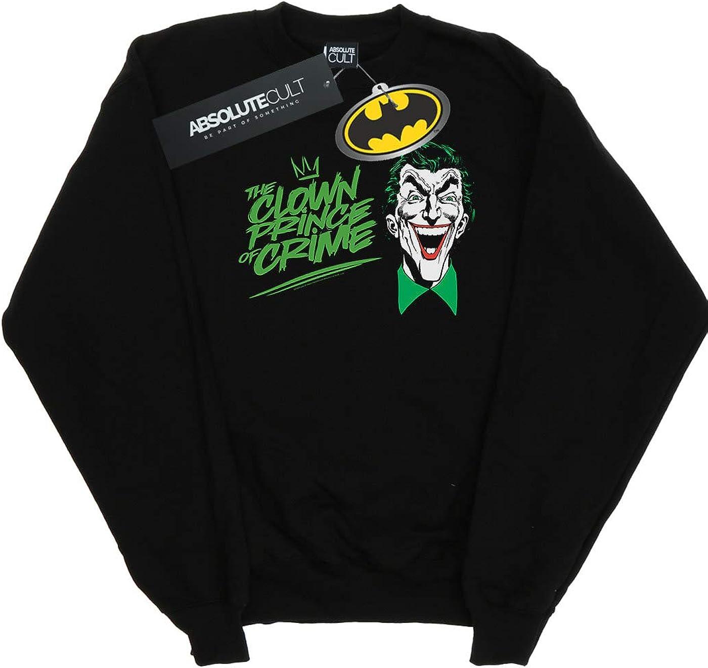 DC Comics Homme Batman Joker The Clown Prince of Crime Sweat-Shirt Noir