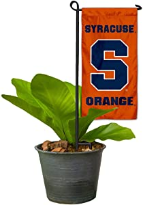 College Flags & Banners Co. Syracuse Orange Mini Garden and Flower Pot Flag Topper
