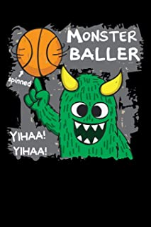 monster baller: spinned yihaa basketball Lined Notebook / Diary / Journal To Write In 6