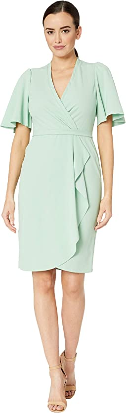 9ba49df20a99 Donna morgan v neck shift dress w tie at center front neck | Shipped ...