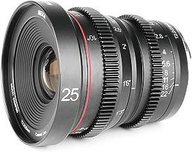 Meike 25mm T2.2 Large Aperture Manual Focus Prime Low Distortion Mini Cine Lens Compatible with Fujifilm X Mount Cameras X-H1 X-T3 X-T20 X-T10 X-T2 X-Pro2 X-E3 X-T1 X-A2 -T100 X-E1 X30 X70 X-M1 X-A1
