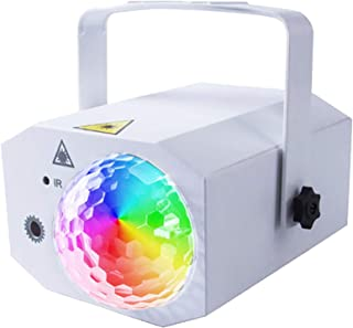 XUHUIXZI Worth Having Dj Disco Lights,10W Sound Activated Stage Effect Projector,Remote Control,Automatic Mode,for Birthda...