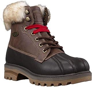 Lugz Women's Mallard Fur Classic 6-inch Duck Toe Memory Foam Chukka Fashion Boot, Bark/Hazelnut/Cream/Gum, 5.5, M