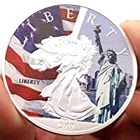 コインコレクション記念コイン2017米国の無料の神々が描いた記念コインコレクション通貨愛ラッキーエンボスコインメモリアルコインコレクターへの贈り物