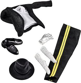 MonkeyJack 1/6 Scale Hip-hop Jacket Pants Shoes Hat for 12'' Michael Jackson Action Figure Toy