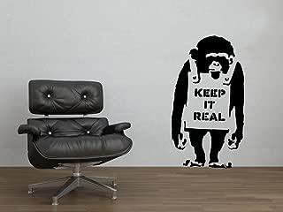 Banksy Keep It Real Chimp Street Graffiti Art Wall Decal - 25
