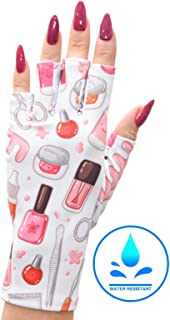 ManiGlovz Gel Nail Manicure Anti-UV and Sunblock Protection Shield Gloves - Water Resistant UV Gloves for Gel Manicures to use with UV and LED Dry Lamps (Nailed It Print)
