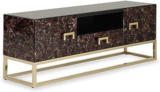 Homes r us LIZZY Collection Entertainment Unit - Black/Gold - 150 x 40 x 55 cm