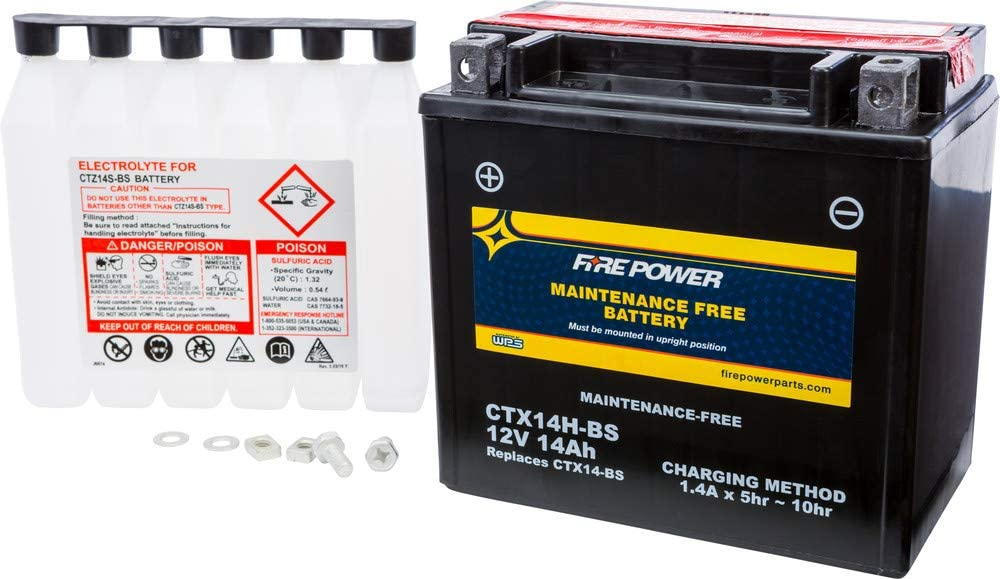 Fire Ranking TOP1 Power Maintenance Free Battery Compatible Max 74% OFF Ho CTX14H-BS With