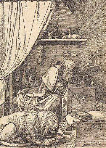 World of Art Albrecht Dürer Saint Jerome in Seiner Zelle, 1513. 250GSM, Hochglanz, A3,...