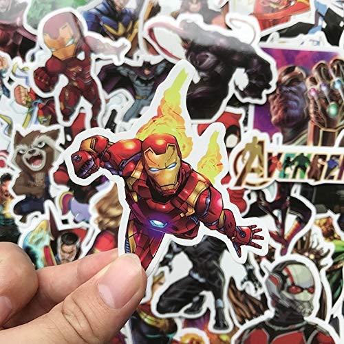 MYOMY Sticker Doodle Waterproof Sticker Pack Hero 50 Pcs Applique Motorized Skateboard Travel Suit Helmet