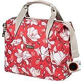 Basil Schultertasche Carry All Bag Magnolia 18L Poppy red + SCHLAUCHFLICKEN