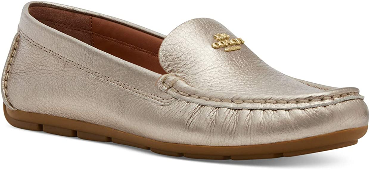 COACH Women's Marley Driver Loafers Champagne
