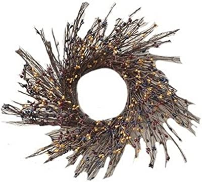 """CWI Gifts 16"""" Colonial Mix Pip Berry & Twig Wreath, Multi"""