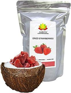 Dried Strawberries, 1 lb - Gluten-Free, Dairy-Free, Soy-Free, Nut-Free, Vegan. Juicy, Plant-Based Snack.