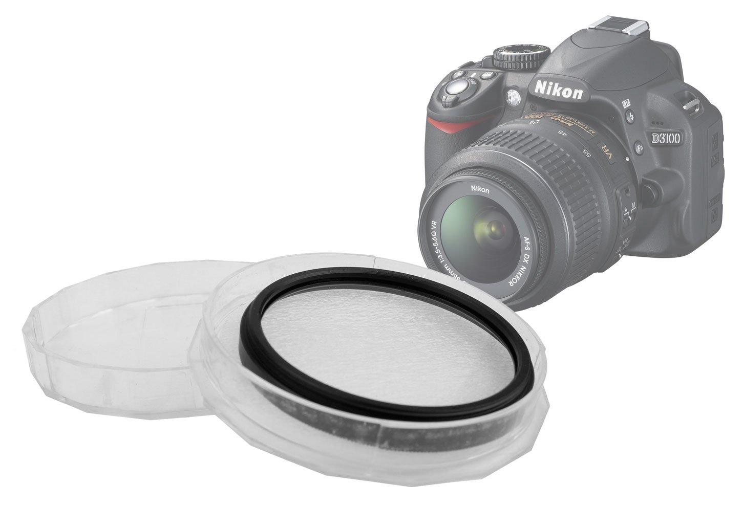 DURAGADGET Filtro Ultravioleta UV De 52 mm Color Neutro + Estuche Protector para Nikon D3100: Amazon.es: Electrónica