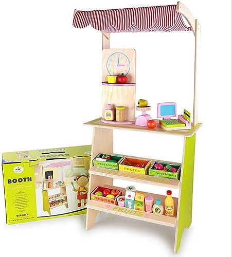GSCchaussures Jouets éducatifs Caisse enregistreuse de Jouet de Stand et étal de marché Superbe avec Le Jeu de Semblant épicerie d'échelle de Nourriture pour des Enfants Enfants 3+ Jeux pour Enfants