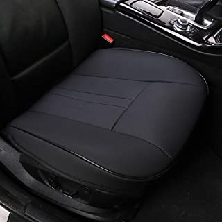 shakar PU Leather Seat Covers for Car Front Seats-Luxury Leatherette Car Seat Cushion,1 Piece,1 Piece (Super-Black)