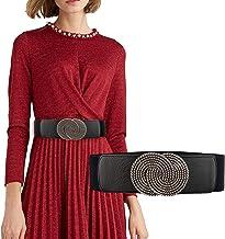 Futurekart Women Belt Stylish Silver Buckel Elastic Embellished Waist Belt Decorative Stretch Waist Band