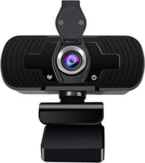 Webcam with Microphone, Full HD 2500P USB Webcam [Plug and Play] for PC Video Conferencing/Calling/Gaming, Laptop/Desktop ...