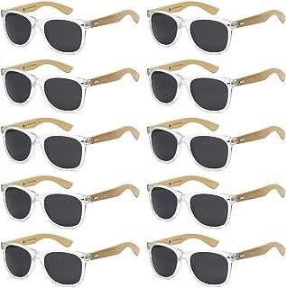 Wholesale Bamboo Sunglasses Eco Friendly Modern Retro 80's Classic - 10 Pack