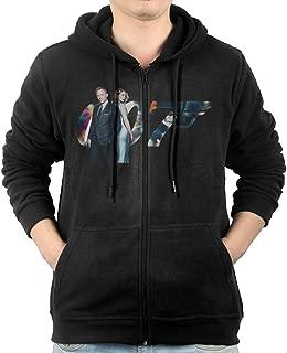 Mens Spectre 007 James Bond Men's Slim Fit Zip-up Hoodies Fleece Sweatshirts Jacket