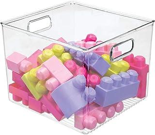 mDesign boite de rangement avec poignées – coffre à jouet en plastique pour figurines, puzzles et plus encore – bac de ran...