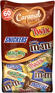 MARS Chocolate Caramel Lovers (M&M'S, SNICKERS, TWIX & MILKY WAY) Fun Size Candy Bars Variety Mix 37.64-Ounce 60-Piece Bag
