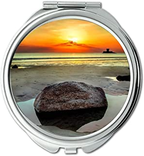 Mirror,Compact Mirror,beach clouds colour,Pocket Mirror,portable mirror