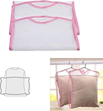 Funycell Pillow Drying Rack, 2 Pieces Foldable Hanging Nets for Drying Stuffed Dolls, Bags and Pillows (Random Colors)