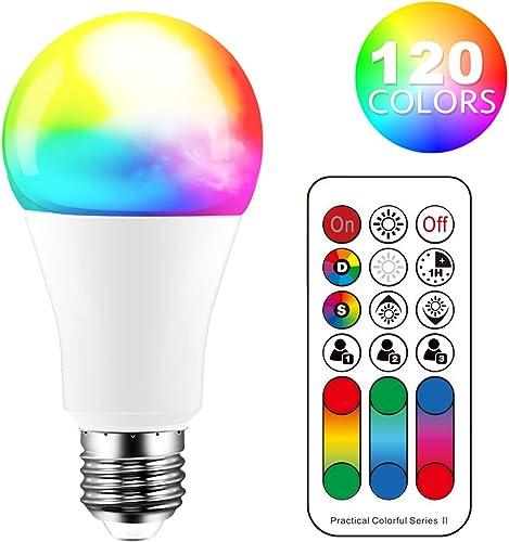 Perfetto per party decorazione Ambiance illuminazione 2 pacchi LED Dimerabile RGB+Luce Fredda 2700K Cambiare Colore Lampadina Multicolore con Telecomando Lampadine Colorate E27 10W