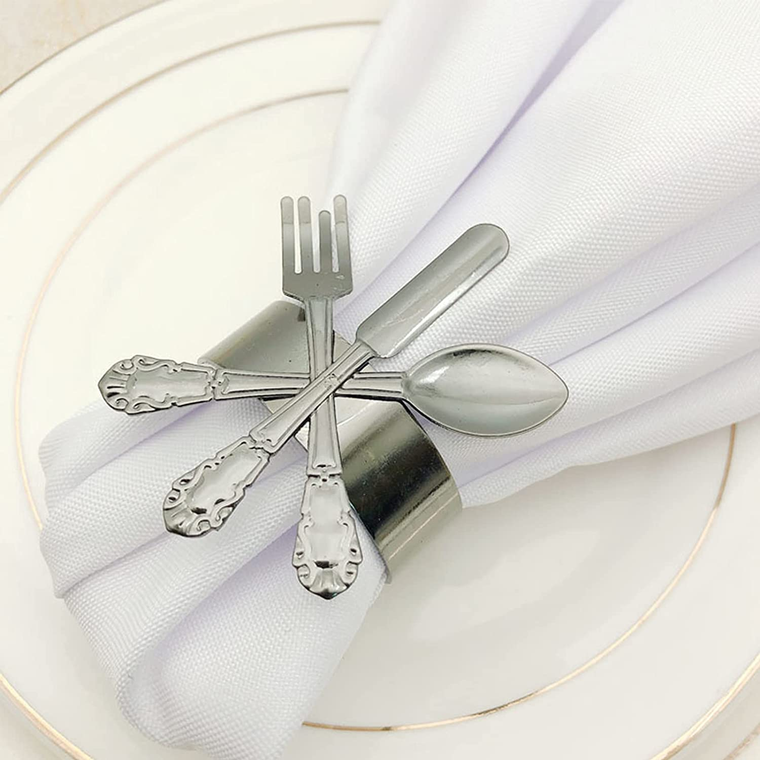AUZOOHH Cutlery Shape Napkin Loop Metal All items free shipping Wedding Outlet SALE Pa Holder