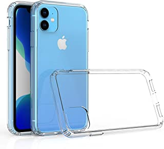 Kit Me Out World Clear Hybrid Series Case Designed for iPhone 11 6.1 Inch Case, Transparent Hard (PC) Back and Clear TPU B...